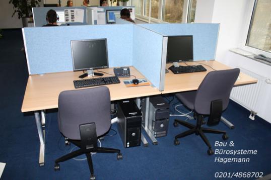 Trennwand Stellwand Auftischtrennwand Callcenter Sichtschutz